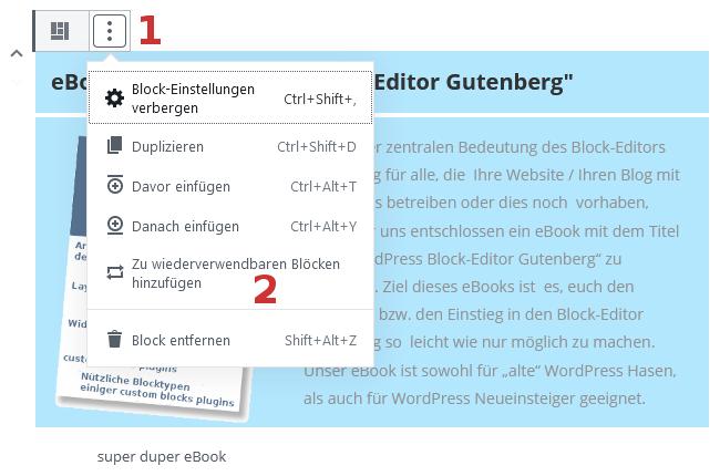 wiederverwendbarer Gutenberg-Block
